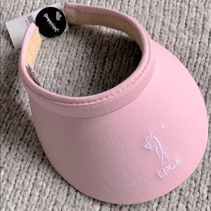 LPGA Pink Wide Brim Ladies Golf Visor 🎀 NEW